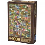 Puzzle  Dtoys-75277 Vintage Collage - Banknoten