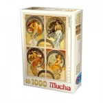Puzzle  Dtoys-75895 Mucha - Kunst