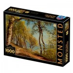 Puzzle  Dtoys-77417 Peder Mørk Mønsted - Birch Trees at a Coast