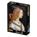 Puzzle  Dtoys-77615 Botticelli Sandro : Idealised Portrait of a Lady