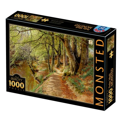 Puzzle Dtoys-77653 Peder Mørk Mønsted - A Spring Day in the Woods with Fresh-Blown Beeches and Anemones in the Forest B