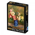 Puzzle  Dtoys-77684 Renoir Auguste - Bouquet of Roses