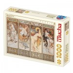 Puzzle  Dtoys-77721 Mucha Alfons - Seasons