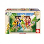 Educa-14659 100 Teile Holzpuzzle - Disney Fairies