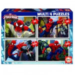 Educa-15642 Puzzle 50 bis 150 Teile: 4 Puzzle: Ultimate Spider-Man