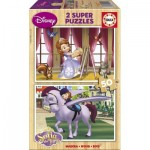 Educa-15915 2 Holzpuzzles - Sofia the First