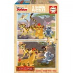 Educa-16795 2 Holzpuzzles - The Lion Guard