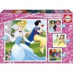 Educa-17166 4 Puzzles - Disney Princess