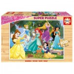 Educa-17628 Holzpuzzle - Disney Princess