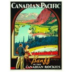 Puzzle  Eurographics-6000-0327 Canadian Pacific Rail -  Die Kanadischen Rocky Mountains