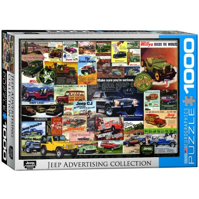 Puzzle Eurographics-6000-0758 Jeep Vintage Posters