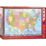 Puzzle  Eurographics-6000-0788 Map of the United States