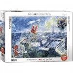 Puzzle  Eurographics-6000-0850 Chagall Marc - Abstraktes Paris