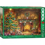 Puzzle  Eurographics-6000-0974 Dominic Davison - Weihnachts Labradors