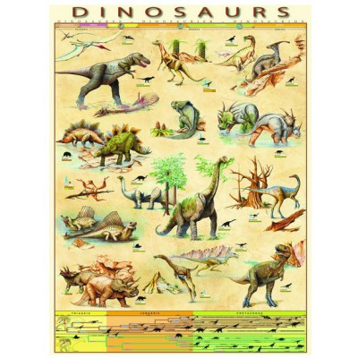 Puzzle Eurographics-6000-1005 Dinosaurier
