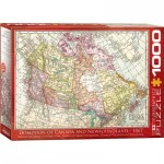 Puzzle  Eurographics-6000-5304 Antique Map - Dominion of Canada & Newfoundland