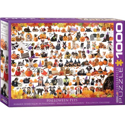 Puzzle Eurographics-6000-5416 Halloween Puppies and Kittens