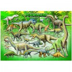Puzzle  Eurographics-6100-0098 Dinosaurier