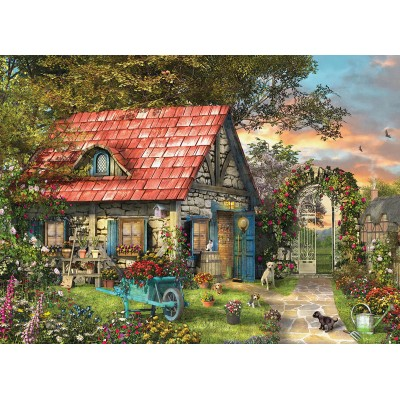 Eurographics-6500-0971 XXL Teile - Family Puzzle: Dominic Davison - The Country Shed