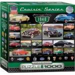 Puzzle  Eurographics-8000-0675 American Cars of the 1940s