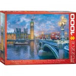 Puzzle  Eurographics-8000-0916 Dominic Davison - Weihnacht in London