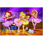 Puzzle  Eurographics-8100-0414 Go Girls Go! Ballett