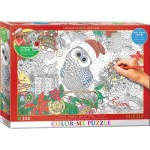 Puzzle   XXL Color Me - Weihnachtseule