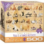 Puzzle   XXL Teile - Yoga is A Family Activity