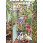 Puzzle  Jumbo-11115 Sarah Adams - Through the Greenhouse Door