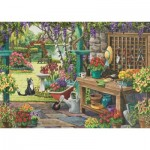 Puzzle  Jumbo-11139 XXL Teile - Nancy Wernersbach - Garden in Bloom