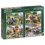 Jumbo-11181 4 Puzzles - Kevin Walsh - Seasons on the Farm