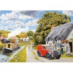 Puzzle  Jumbo-11214 XXL Teile - Parcel for Canal Cottage