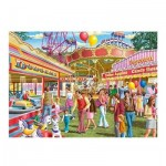 Puzzle  Jumbo-11251 XXL Teile - Fun at the Fair