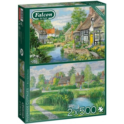 Jumbo-11289 2 Puzzles - Riverside Cottages