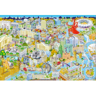 Gibsons-G3052 Puzzle 500 Teile: London from Above