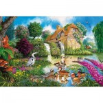 Puzzle  Gibsons-G3422 John Francis - The Old Watermill