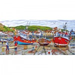 Puzzle   Roger Neil Turner - Seagulls at Staithes