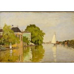 Puzzle  Grafika-Kids-00481 Claude Monet: Houses on the Achterzaan, 1871
