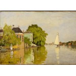 Puzzle  Grafika-Kids-00482 Claude Monet: Houses on the Achterzaan, 1871