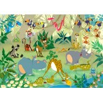 Puzzle  Grafika-Kids-00877 Magnetische Teile - François Ruyer: Jungle