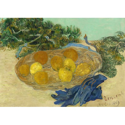 Puzzle Grafika-Kids-01002 Vincent Van Gogh - Still Life of Oranges and Lemons with Blue Gloves, 1889