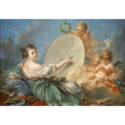 Puzzle Grafika-Kids-01288 François Boucher: Allegory of Painting, 1765