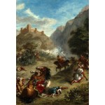 Puzzle  Grafika-Kids-01291 Eugène Delacroix: Arabs Skirmishing in the Mountains, 1863