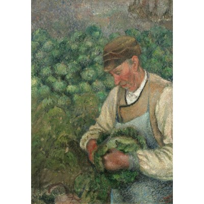 Puzzle Grafika-Kids-01371 Camille Pissarro: The Gardener - Old Peasant with Cabbage, 1883-1895