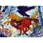 Puzzle  Grafika-Kids-02065 Sally Rich - Wolves in a Blue Wood