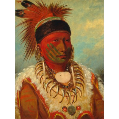 Puzzle Grafika-00234 George Catlin: The White Cloud, Head Chief of the Iowas, 1844-1845