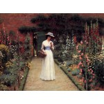 Puzzle  Grafika-00370 Edmund Blair Leighton: Lady in a Garden