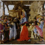 Puzzle  Grafika-01281 Sandro Botticelli: Adoration of the Magi (Zanobi Altar), 1475