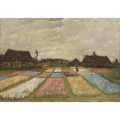 Puzzle Grafika-01520 Vincent Van Gogh - Flower Beds in Holland, 1883