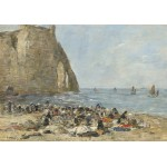 Puzzle  Grafika-01600 Eugène Boudin: Washerwomen on the Beach of Etretat, 1894